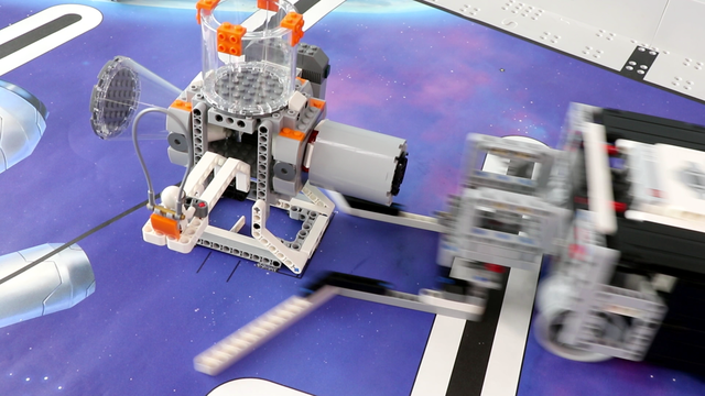 Image for FLL 2018: Mission run M06 (precisely push) from FIRST LEGO League 2018 Into Orbit. Review