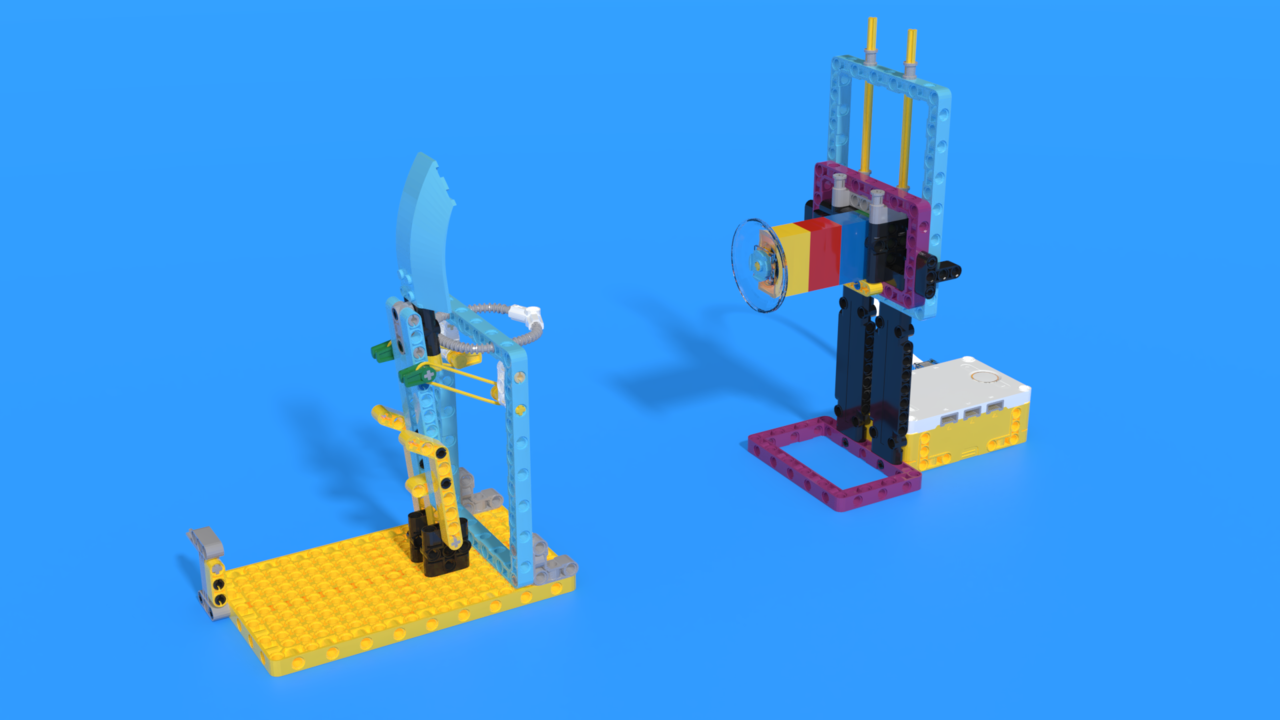 Image for Pallo - a LEGO SPIKE Prime catapult robot with target