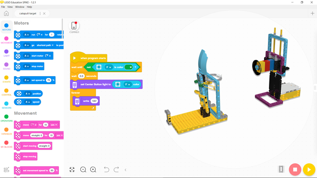 Image for Program for Pallo - SPIKE Prime catapult with target robot
