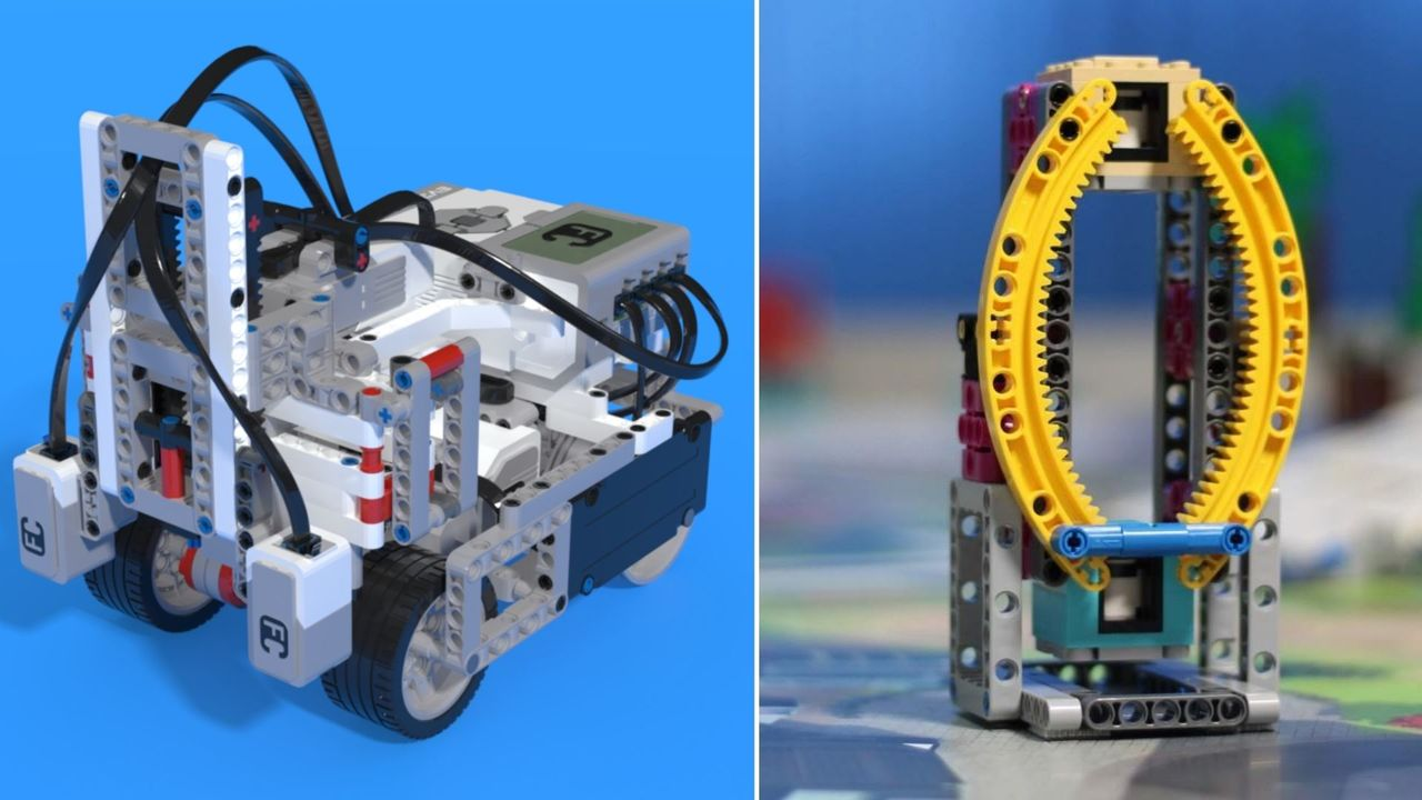 Image for FIRST LEGO League (FLL) 2019-2020 City Shaper Challenge. Example solutions with explanations. EV3 and SPIKE