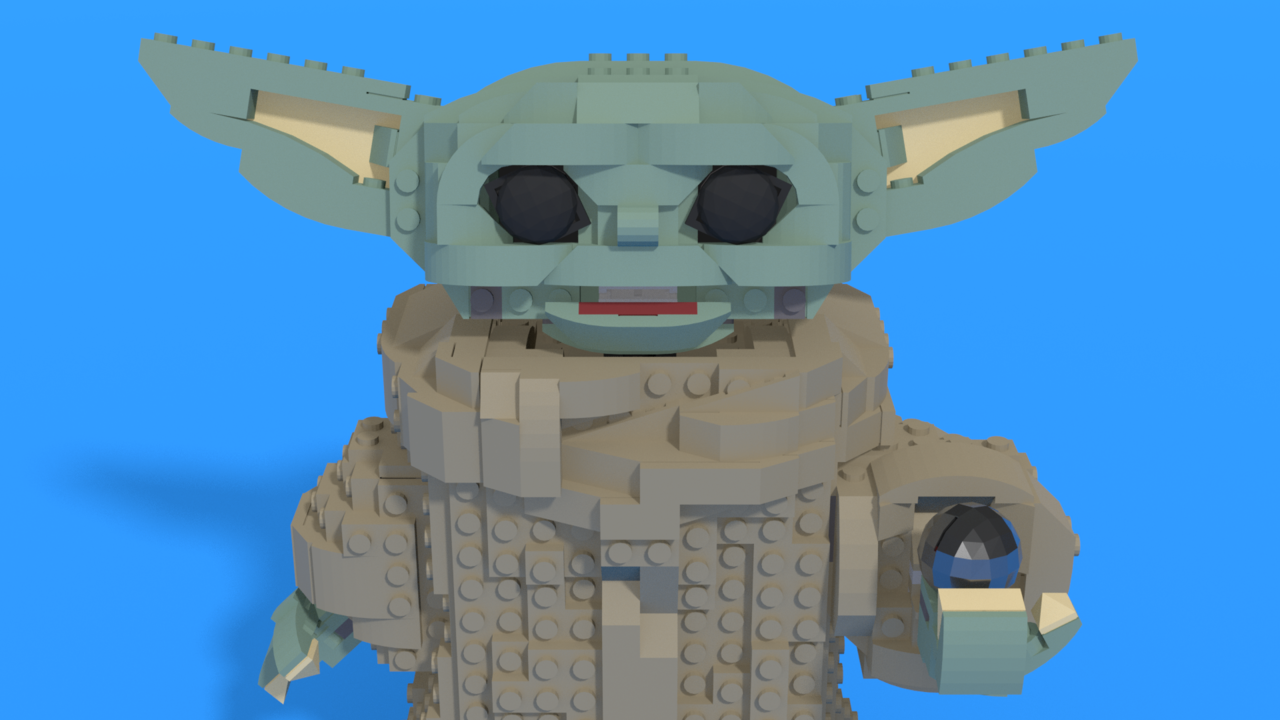 "Image for LEGO Baby Yoda from ""Star Wars"""