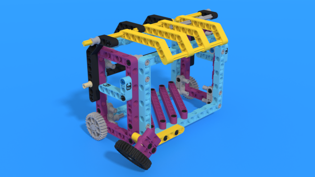 Image for Garbage Container from a LEGO SPIKE set