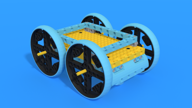 Image for Zat - a minimalist car frame from LEGO SPIKE