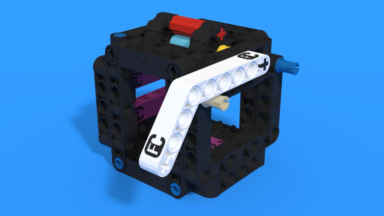 Image for Power switch mission model from LEGO Education SPIKE Prime for FLLCasts Off-season Challenge, in 3D building instructions