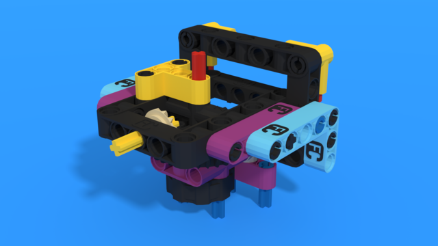 Image for Reusable geared attachment 1 from LEGO Education SPIKE Prime, with building instructions