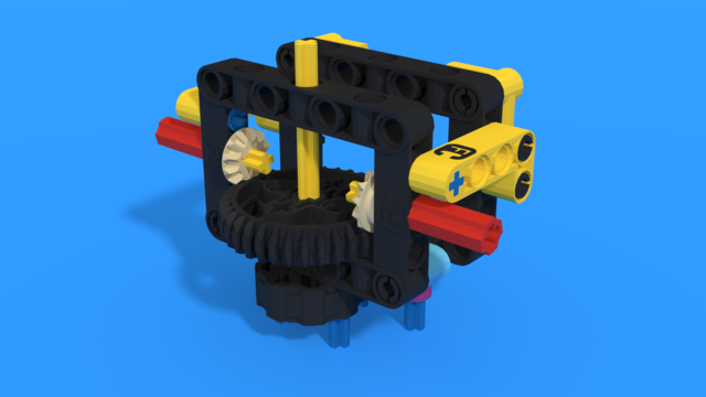 Image for Reusable geared attachment 3 from LEGO Education SPIKE Prime, with 3D building instructions