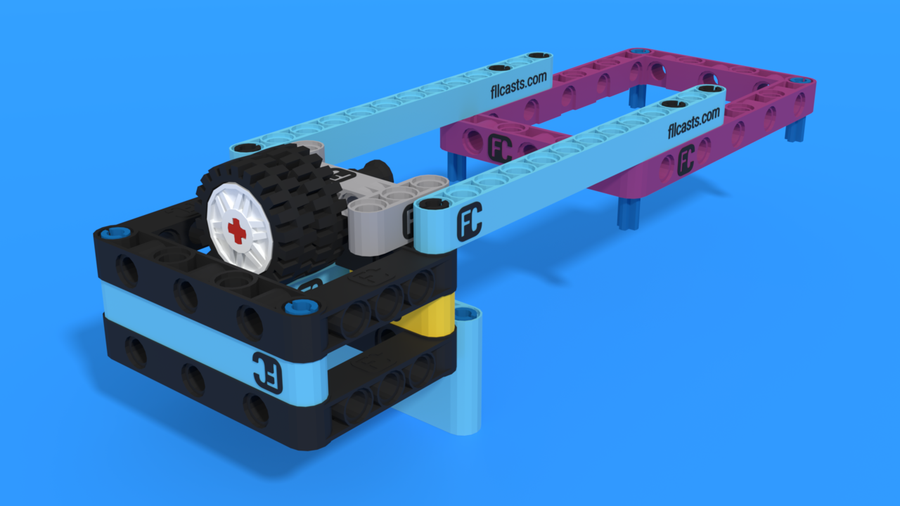 Image for Drop attachment with LEGO Educatoin SPIKE Prime, with 3D buidling instructions