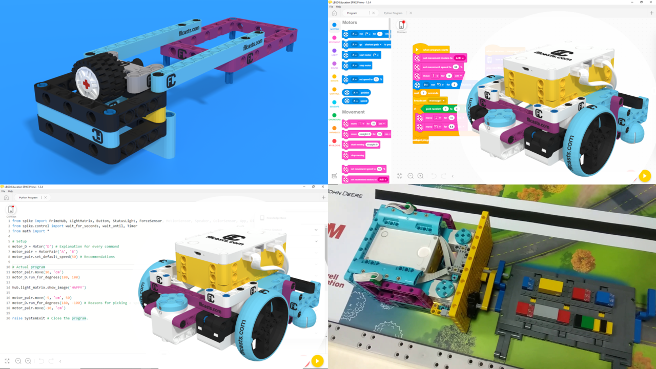 """Image for FIRST LEGO League with LEGO Education SPIKE Prime. """"Challenge"""" competition for 9-16 years old"""