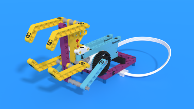 Image for Throw attachment from LEGO Education SPIKE Prime, with 3D building instructions