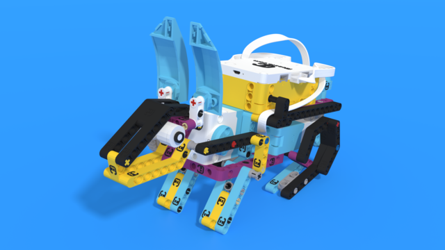 Image for Spike Bunny, a LEGO Education SPIKE Prime bunny with 3D building instructions
