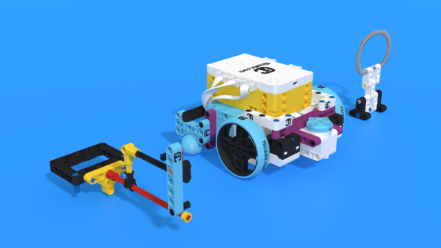 Image for How an Grab attachment accomplishes a loops mission. Demo with Luly Box Robot from LEGO Education SPIKE Prime
