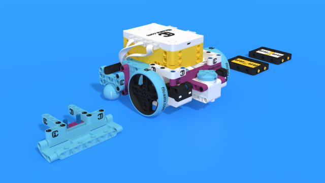 Image for How a Quick pinless attachment collects parts. Part2. Demo with Luly Box Robot from LEGO Education SPIKE Prime