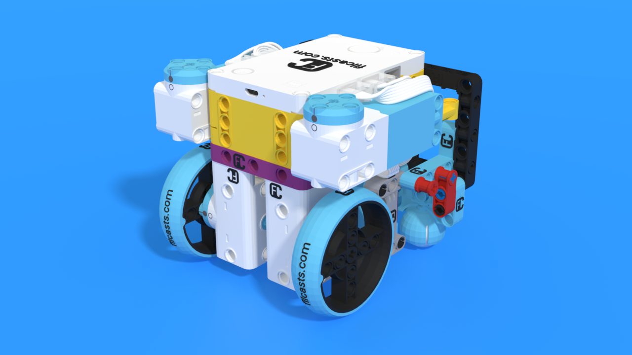 Image for Cooley, a robot base chassis from LEGO Education SPIKE Prime set, with 3D building instructions