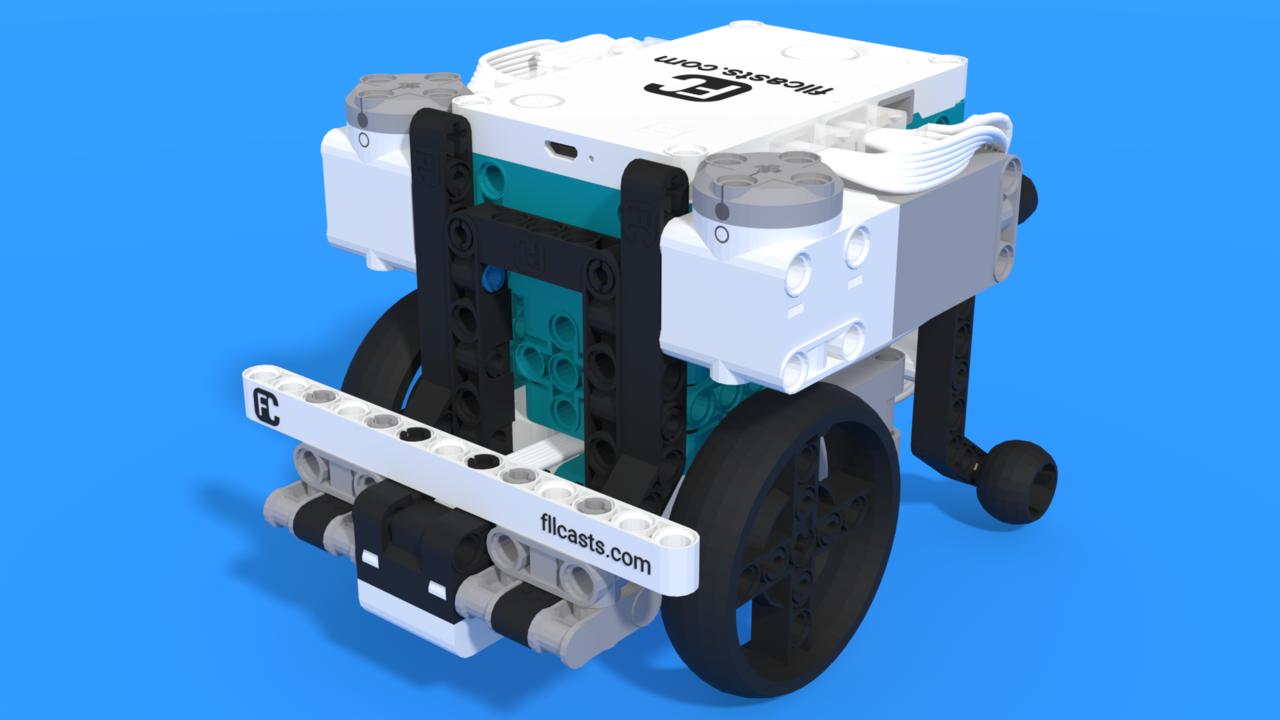 Image for Gazon 2.0, a LEGO Mindstorms Robot Inventor robot with a single sensor