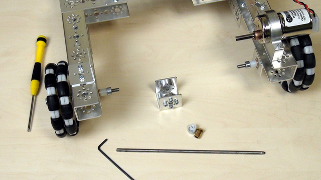 Image for Tetrix FTC. Construct a ball collecting attachment - rotation axle
