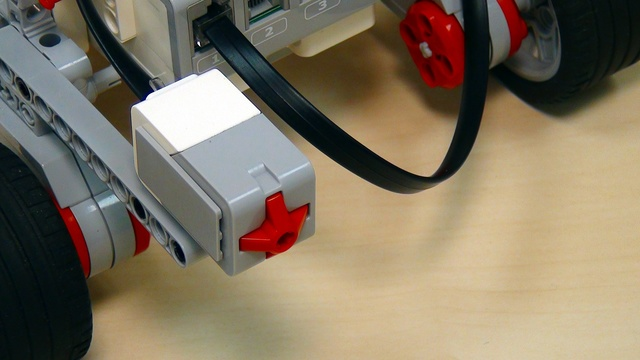 Image for EV3 basics course. Touch Sensor. Programing. Pressed/Released (part 2)