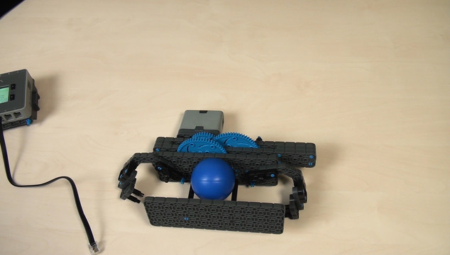 Image for VEX IQ. Extending a lever length for a harder hit on a ball when throwing it