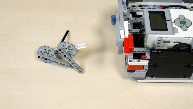 Image for Improving FLL Robot Game. Task. Lift your robot with 40 teeth gear wheels.