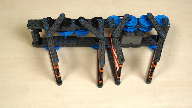 Image for VEX IQ Crossover. Teacher's Note. Attachment for grabbing, built with gear wheels and belts