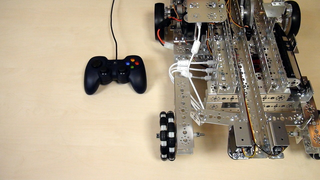 Image for Tetrix Gamepads. Controlling the motors with only one Gamepad Stick.