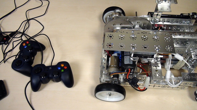 Image for Tetrix Gamepads. Controlling the motors with two separate GamePad Sticks