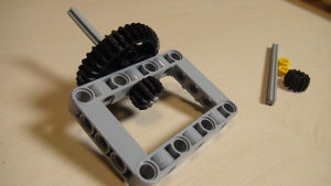 Image for Reusable geared active attachment for changing LEGO gears orientation