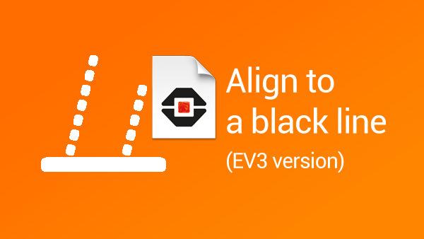 Image for How to align LEGO Mindstorms robots to a black line (EV3 version)