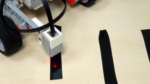 Image for EV3 basics course. Color Sensor. Stop on third line without Wait block (part 3)
