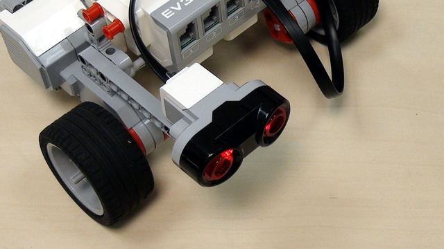 Image for EV3 basics course. Ultrasonic Sensor. Tasks (part 5)