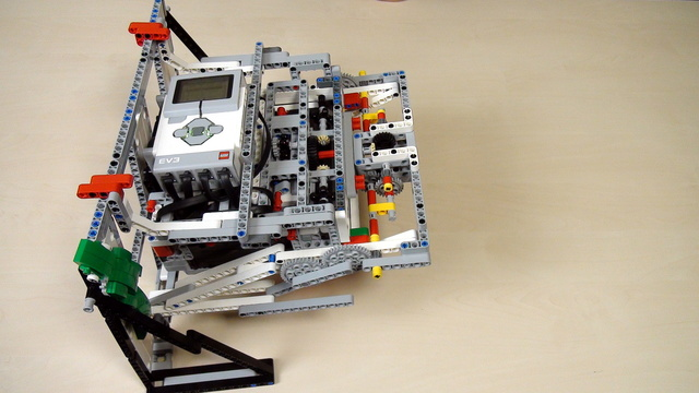 Image for Improving FLL Robot Game. Task. Attach the robot at an end position when lifted
