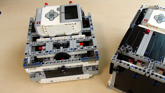 Image for Box Robot Two. Use of the three LEGO Mindstorms EV3 motors.