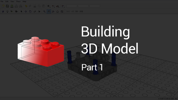 Image for How to build a 3D LEGO Model using LDraw (part 1)