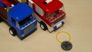 Image for Rubber bands, Gear wheels and motors for accomplishing FLL 2013 Truck and Ambulance