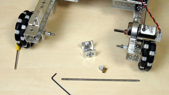 Image for Tetrix FTC. Tasks. Construct a rotation axle for collecting balls