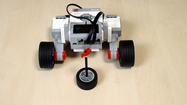 Image for Завой с един двигател зад ъгъл с блокче за Голям мотор