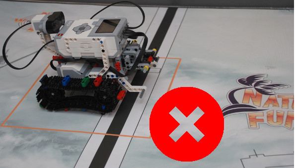 Image for Wrong LEGO Mindstorms robot positioning without sensors (part 1)