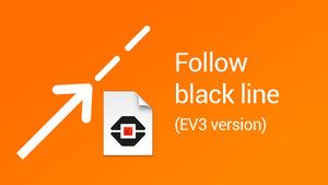 Image for Follow a black line block