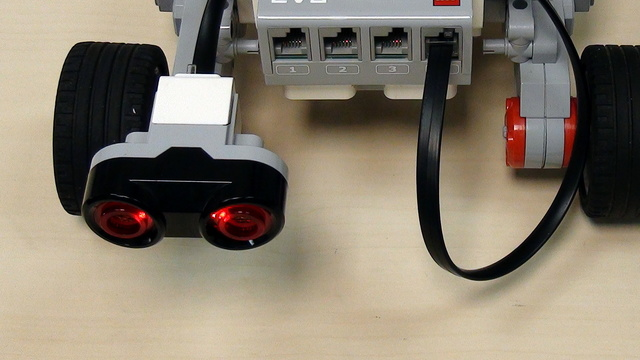 Image for EV3 basics course. Ultrasonic Sensor. Follow an object (part4)