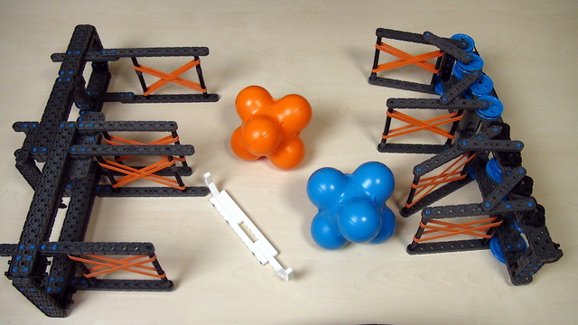 Image for VEX IQ Crossover. Task. Competition for bringing more objects in 60 seconds