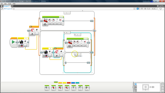 Image for Following a line with two Hi Technic Color Sensors in EV3