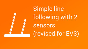 Image for Simple line following with 2 light/color sensors