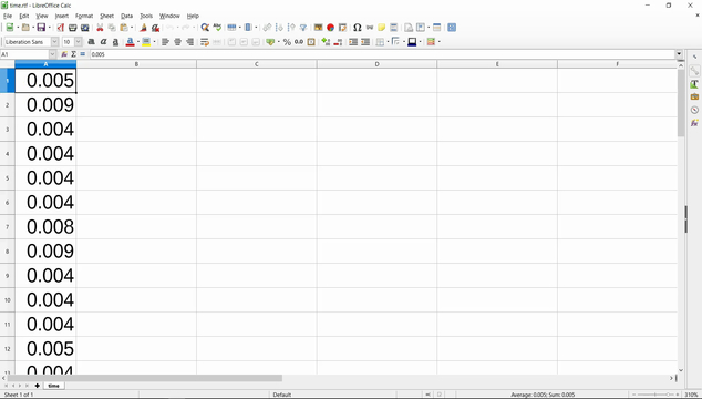 Image for Data logging the time between taking samples of the EV3 Gyro sensor