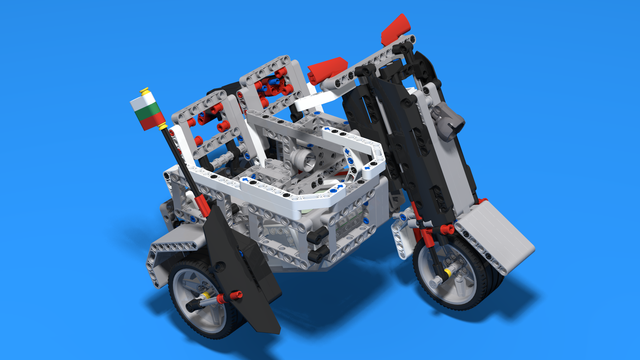 Image for Rider - Even better motorcycle with a side cart built with LEGO Mindstorms EV3