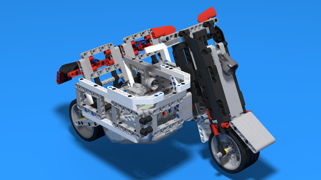 Image for Buffalo - Motorcycle with a side cart built with LEGO Mindstorms EV3
