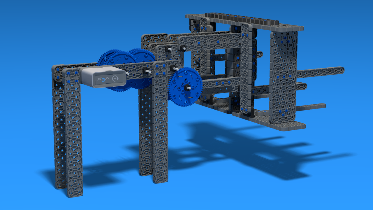 Image for Two degrees of freedom VEX IQ Crossover attachment
