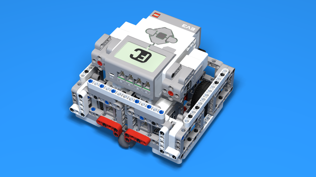 Image for EV3 Base Chassis 4 - Back Wheels Reversible Motor