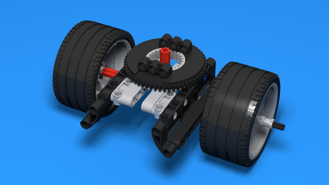 Image for BigDaddy Front - front wheels mechanism module for a large LEGO Mindstorms Competition Robot