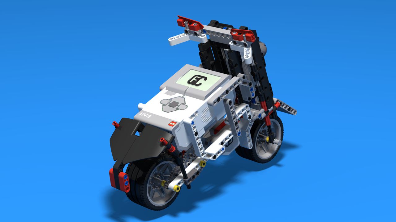 Image for Forger - Chopper Motorcycle with assisting wheels built with LEGO Mindstorms EV3