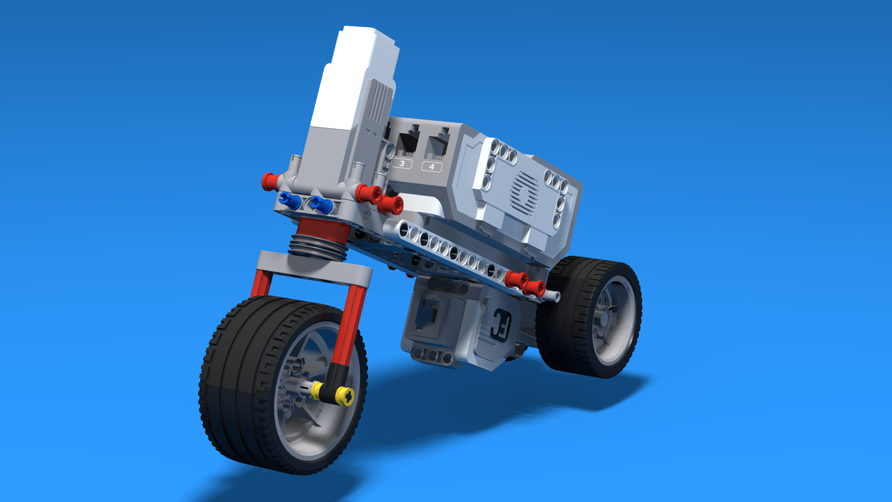 Image for Welder - super simple Motorcycle built with LEGO Mindstorms EV3