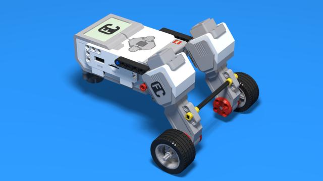 Image for Andy Roid Bot - Angled Back Motors Attached LEGO Mindstroms Robot